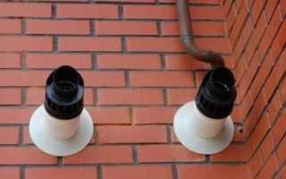 Какого размера должен быть проем под коаксиальную трубу в стене?