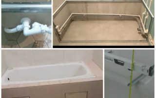 Каркас для ванны: как смастерить и установить опорную конструкцию