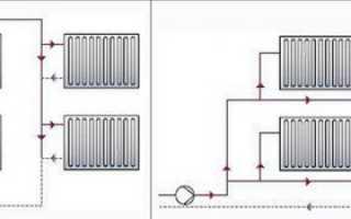 Как подключить вход и выход трубы отопления на одном уровне?